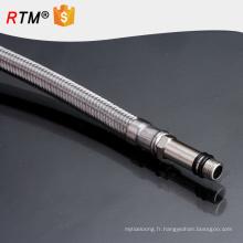 J17 3 en acier inoxydable tressé tube ss304 fil tressé téflon soufflets fil tressé métallique ondulé tuyau