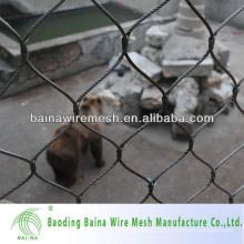 Alibaba China Herstellung Edelstahl Seil Mesh für Zoo Voliere