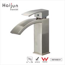 Haijun China Supplier Brass Body Deck Mounted Bathroom Basin Waterfall Faucet