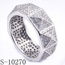 Joyería de moda diseño personalizado 925 mujeres anillo de plata (S-10270)