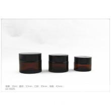 Luxury Amber Cosmetics Glass Jar