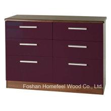 Sufficient Storage 3+3 Drawers Cabinet Dresser Chest (HC18)