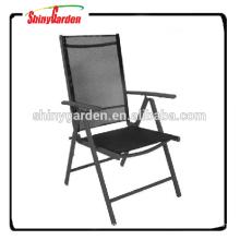 Klappbarer Gartenstuhl mit 7 Positionen im Freien