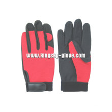 Microfiber Palm Reinforced Thumb Mechanic Trabalho Glove