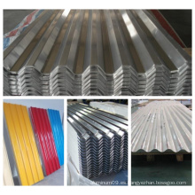 Hoja ondulada de aluminio