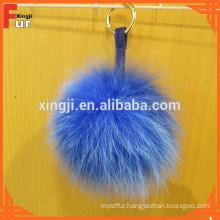Fox Fur Pom Pom with keychain, 12cm