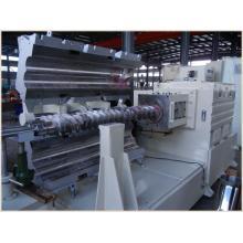 Extrusora cónica de doble tornillo Spc Máquina extrusora de pisos de PVC