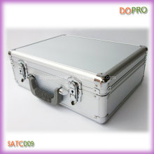 Серебряный полосатый жесткий ящик для инструментов (SATC009)