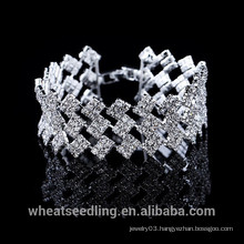 Three In One Multilayer Silver Crystal Fashion Lady Bracelet