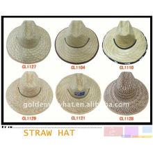 Модная соломенная мексиканская ковбойская шляпа