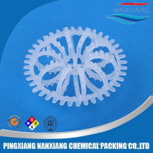 pingxiang nanxiang pvc tellerette ring for tower packing Plastic rosette Plastic Tellerette Ring For Scrubber Packing