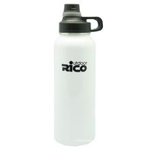 Activités de plein air en acier inoxydable vide bouteille avec couvercle à vis 1 200 ml
