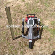 52mm Benzin Gas angetriebene elektrische Macht Mini Hand Zaun Stapel Stange Fahrmaschine Portable Benzin Star Picket Post Driver
