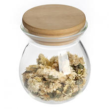 Glass Storage Jar Airtight Container with Bamboo lid