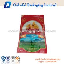 Bolsas de plástico impresas aduana del fabricante de China para el embalaje del arroz de 25 KG