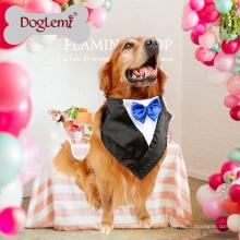 Atacado Personalizado Extra Grande Pet moda Cachecol Party Dress Up Bandana Dog