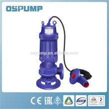 Pompe submersible d'eaux d'égout de non-obstruction