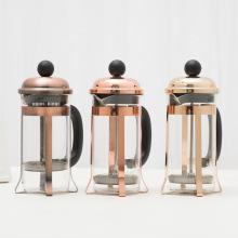 Cafetière à pression française en verre borosilicaté de 12 oz