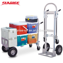 Aluminium telescoping folding muti-function hand trolley with CE