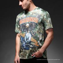 Esportes ao ar livre Exército Airsoft táctico Python Camo homens t-shirt de algodão