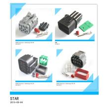 El mejor precio del conector macho y hembra de la extensión del enchufe eléctrico del conector 6 pin