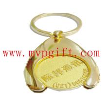 Metall Schlüsselring mit Wsh Bone Trolley Münze M-Tc007)