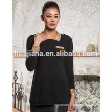 мода женщин поло шеи 100% кашемировый свитер