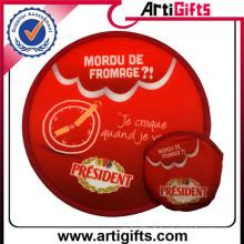 Promotion pas cher personnalisé rond mini ventilateur pliable en nylon frisbee