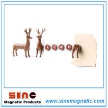 Etiquetas engomadas creativas del mensaje del imán del refrigerador de los ciervos y nota pegajosa;