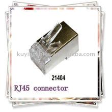 Premiun Conector RJ45 Blindado Plug Cat5 8P8C Rede Lan Connector