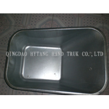 80L Metal tray can be zinced and painted