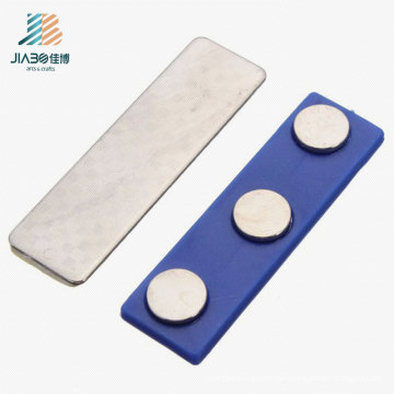 Custom Logo Zinc Alloy Rectangle Metal Name Badge with Magnetic Pin