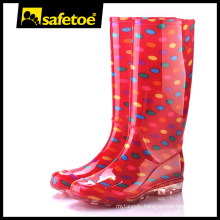Ladies fashion rain boots custom printing W-6040B