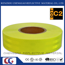 High Visibility Fluorescent Lime Yellow Reflective Tape for Bus (CG5700-OF)