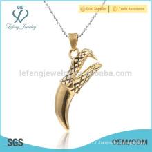 Pendentif à la griffe à la griffe, pendentif en or 22 carats pour petit ami
