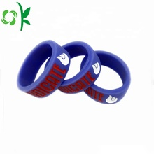 Slap-up Silicone Finger Rings Purple/Black Engagement Rings