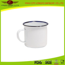 White Color Inside and out Side Enamel Mug