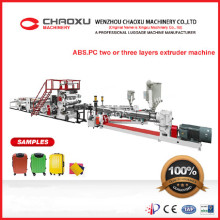 ABS/PC Two or Three Layers Production Line Plastic Extruder Machine for Luggage