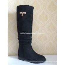 Elegante Mode-Diamanten Sexy Dame Long Rubber Boot