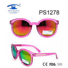 Transparent Purple Colorful Kid Plastic Sunglasses (PS1278)