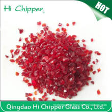 Red Colored Swimming Pool Decorative Glass Beads