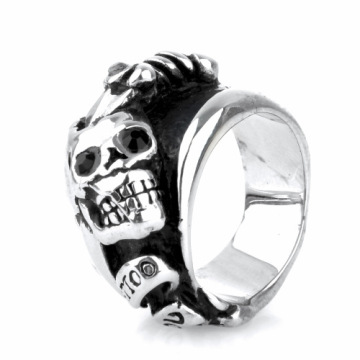 Gothic style popular student knight skull ring