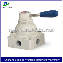 4Hseries 4/3 hand lever valves pneumatic hand switch valve