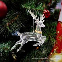 Glitter de plástico emfeites caseiros de ornamentos de Natal