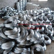 Fil de PVC0.93mm de fil d'acier de fil de fer galvanisé par électro doux d'usine