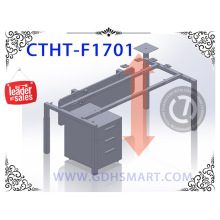 inner tube outer tube stable manual height adjustable desk height adjustabletable frame step by step in china