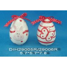 Hand-Painted Ceramic Egg Salt&Pepper Shakers
