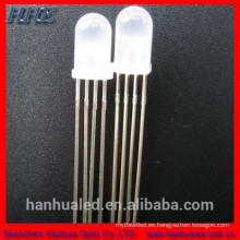 Diodo LED rgb de 4 pines y 4 pines 5 mm 8 mm 10 mm (lente difusa de agua transparente)