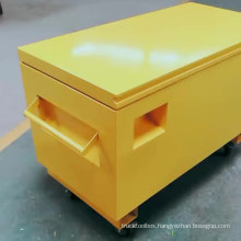 Super Heavy duty Mobile Yellow Steel Jobsite ToolBox With Wheel Caster Super Heavy duty Mobile Yellow Steel Jobsite ToolBox With Wheel Caster