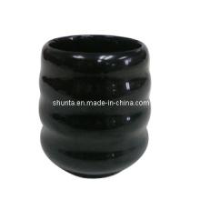 Vaisselle de mélamine de 100% - tasse de thé avec le fil (série noire) / vaisselle de mélamine (QQBK16105)